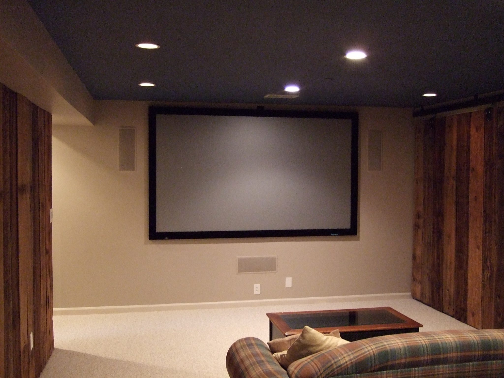 Novatek electric audio video installation sales for Small room movie theater